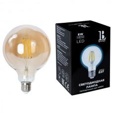 Лампочка светодиодная филаментная E27-8W-G125-NH-fil gold_lb