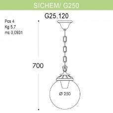 Уличный подвесной светильник Globe 250 G25.120.000.VXE27