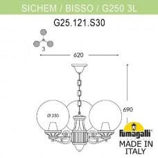 Уличный подвесной светильник Globe 250 G25.120.S30.VXE27
