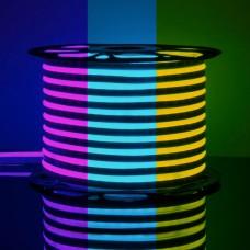 Светодиодная лента Гибкий неон 220V 12W 80Led 5050 IP67 односторонний RGB, 50 м