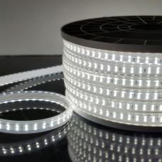 Светодиодная лента 220V 18W IP65 Лента светодиодная 220V 18W 180Led 2835 IP65, холодный белый, 50 м, двухрядная